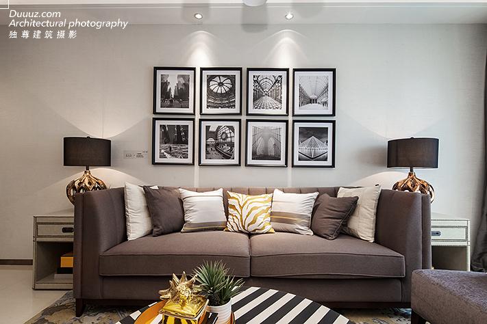 空与间建筑摄影:黑白现代风格样板间