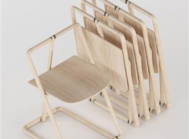 如此富有工业设计感的折叠座椅