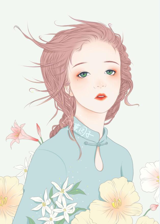 唯美女孩插画欣赏
