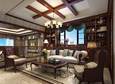 景逸效果图设计—2月复式别墅美式风格设计