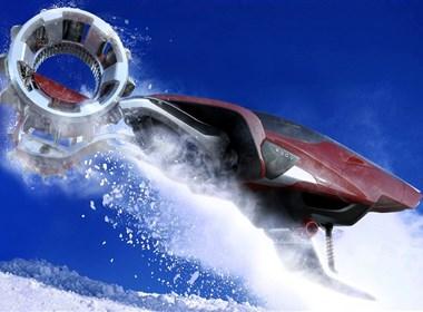在积雪中奔驰的概念车设计