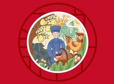 贵州农产品包装设计之黔腊坊腊肉香肠包装设计