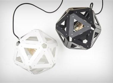 20面等边三角形组成的灯饰