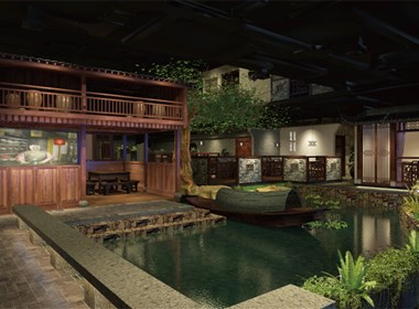 主题餐厅设计-赣州蟠园餐厅设计