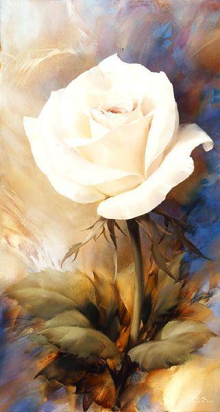 这个春天你买花了么?—油画作品