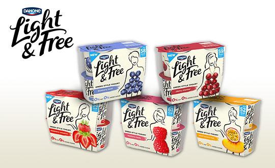 国际包装设计奖获奖作品——达能酸奶Light & Free