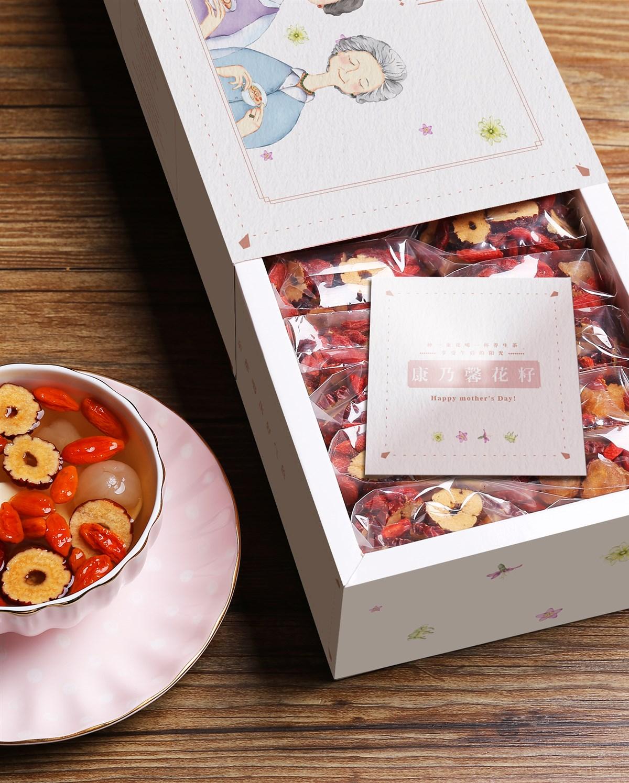 枸杞桂圆红枣茶 母亲节礼盒 女性茶 茶包装
