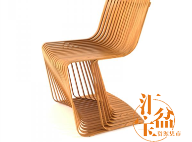 chair 木椅模型