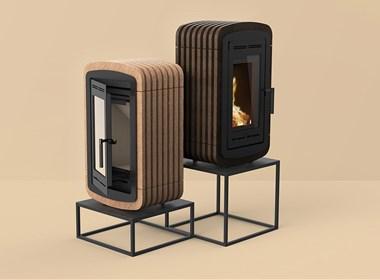 现代新型简装型壁炉