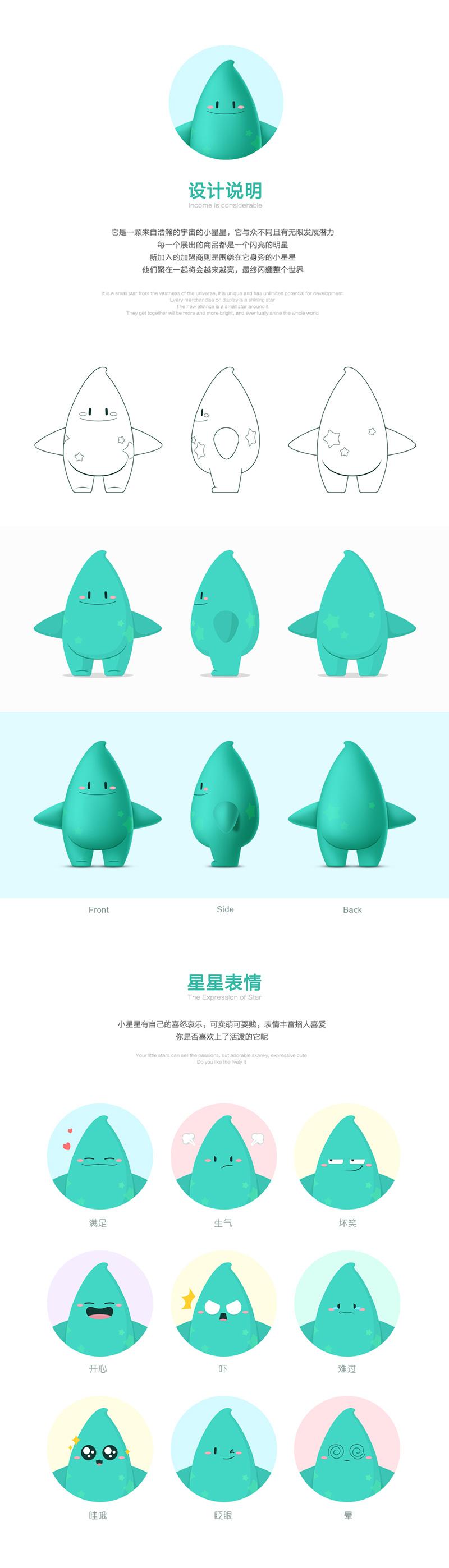 中国特许加盟吉祥物设计by心铭舍