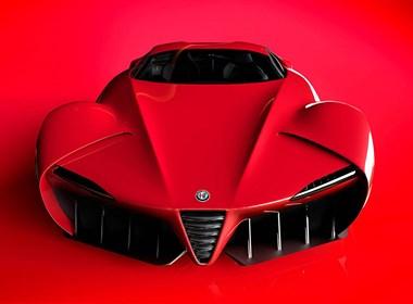 具有女性气质的超流畅线条的跑车设计