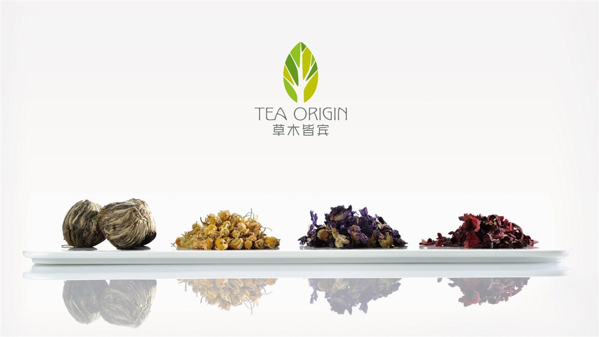 草木皆宾花草茶项目内容:品牌定位、VI、LOGO、包装