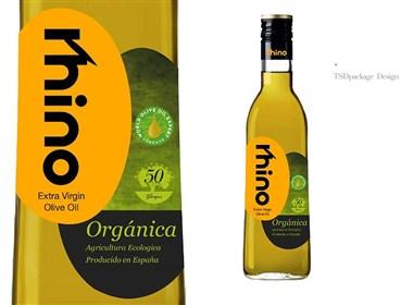 犀牛特级初榨橄榄油包装--时与间设计