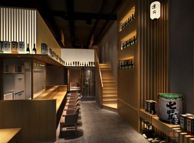 凛火日式料理店设计-成都餐厅设计丨成都餐厅装修丨古兰装饰