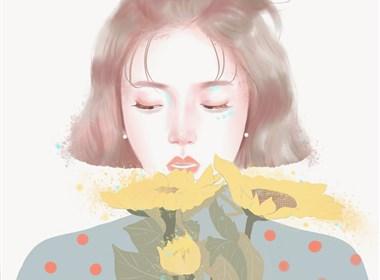 色彩温柔和谐的插画欣赏