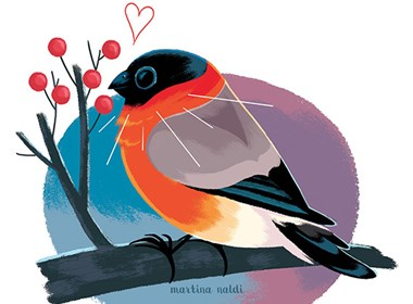 一组可爱小鸟插画欣赏