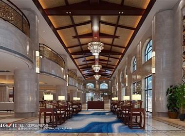 景逸效果图设计—工装宴会厅、酒店包间、酒店客房效果图
