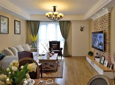 140㎡三居室简约美式装修:清新舒适不失奢华
