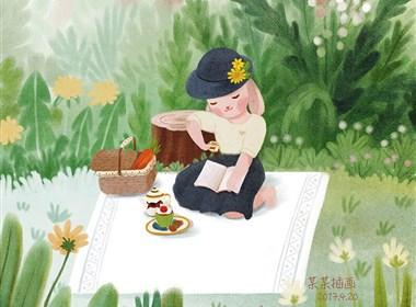 兔小姐的日常—儿童插画