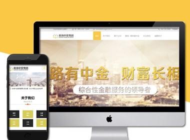 网页设计公司案例,漂亮的金融网站制作案例