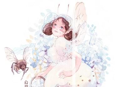 一波昆虫—水彩插画欣赏