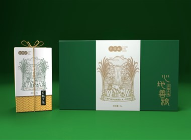 良食稻品牌-石板大米包装设计案例