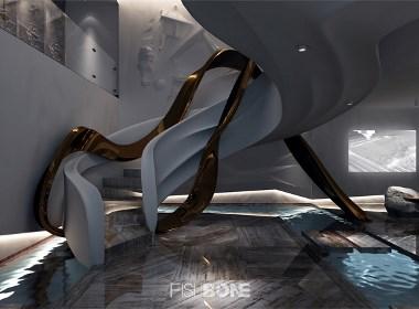 鱼骨设计-北京安雅达石膏艺术馆