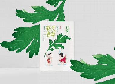 初链-艾草婴幼儿洗浴包包装设计