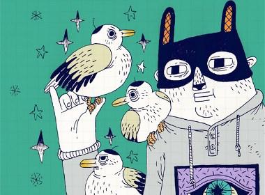 欣赏乌鸦王的影集插画欣赏