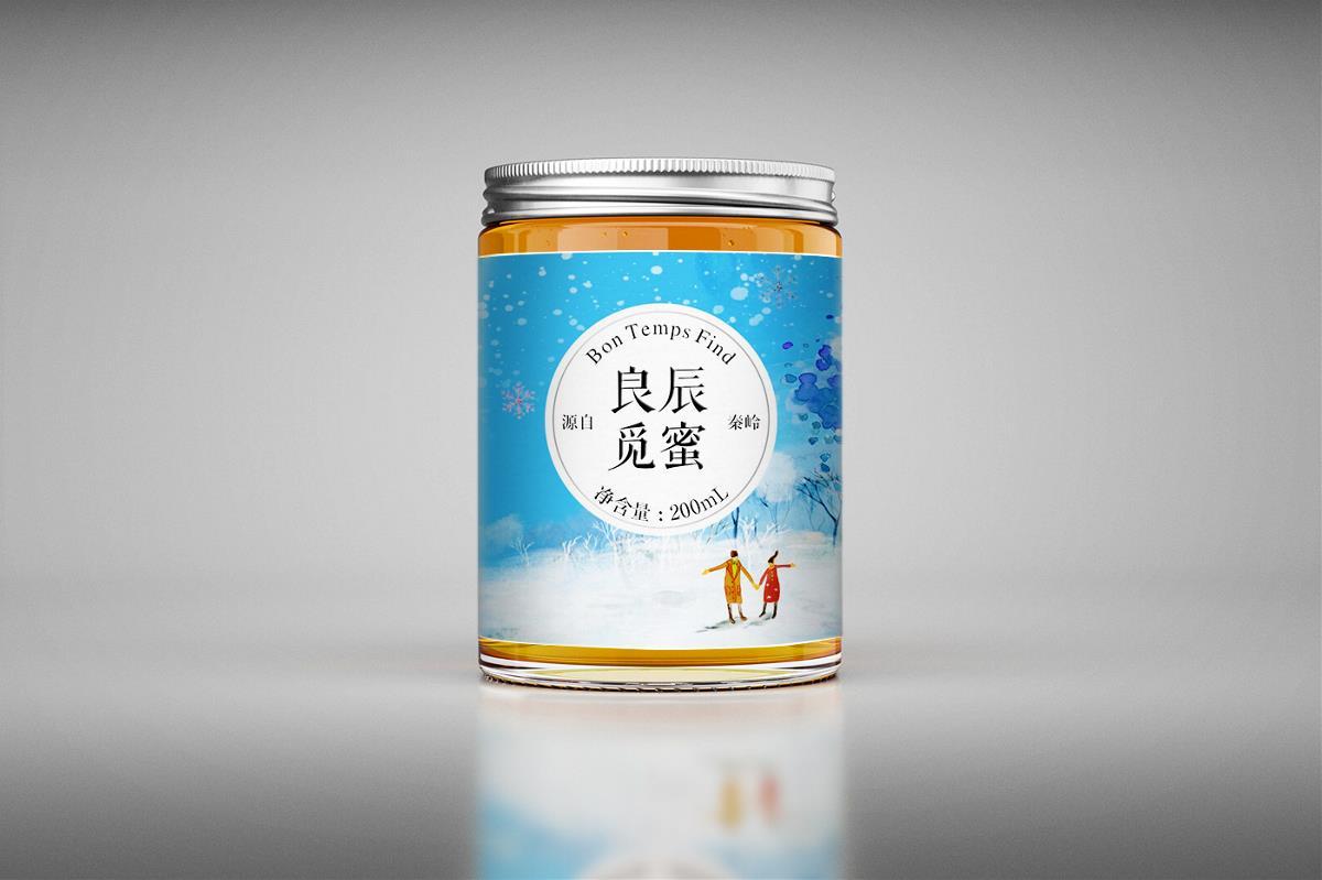 西安蜂蜜包装设计公司,良辰觅蜜系列土蜂蜜包装设计