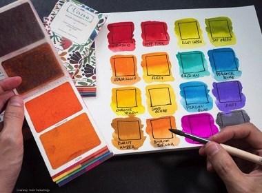 Viviva新型便携固态水彩颜料卡