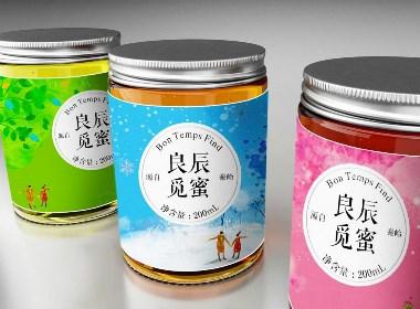 良辰觅蜜系列土蜂蜜包装设计