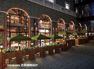 咖啡餐厅设计,重庆奥布朗咖啡 635㎡|北京海岸设计
