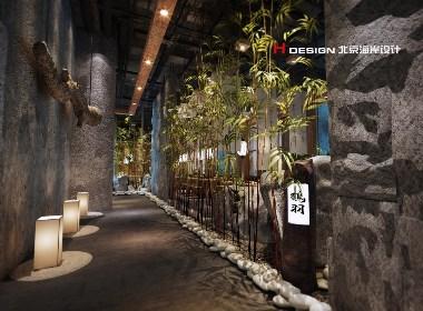 北京海岸餐饮设计,重庆鹤羽日式料理 450㎡|北京海岸设计
