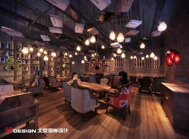 咖啡馆设计,重庆咖啡花 581㎡|北京海岸设计