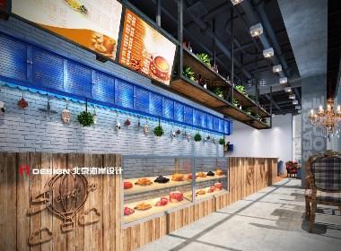 咖啡餐厅设计,重庆send to西餐 233㎡|北京海岸设计