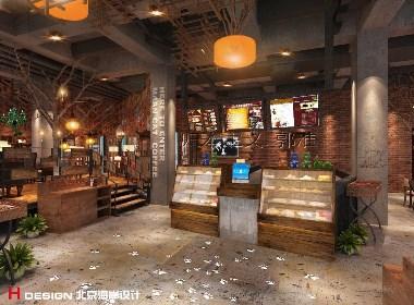 咖啡馆设计,重庆九龙坡漫猫 531㎡|北京海岸设计