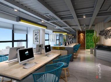 绩同文化传媒办公室-成都办公室设计丨成都办公室装修丨古兰装饰