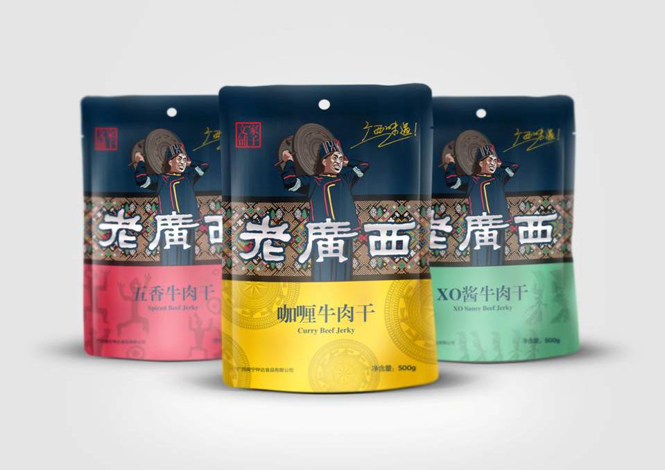 零食肉干坚果系列包装设计