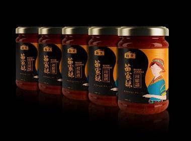 海天集团-苗家妹辣椒酱产品包装形象设计
