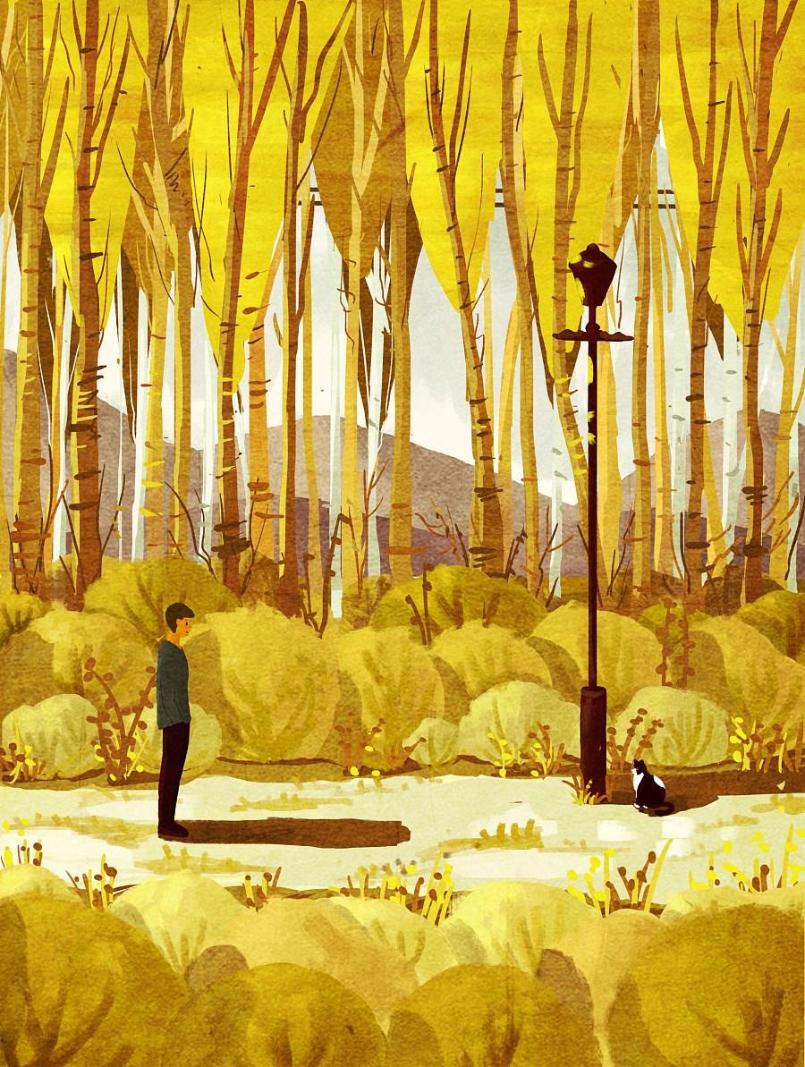 风和日丽插画欣赏