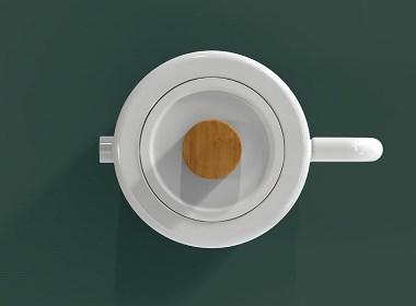 简约线条的完美水杯