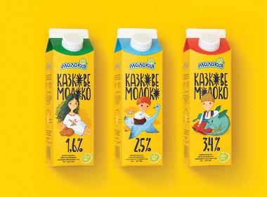 仙女牛奶包装设计