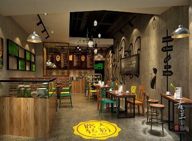 银泰城米线店-成都店铺设计丨成都店铺装修丨古兰装饰
