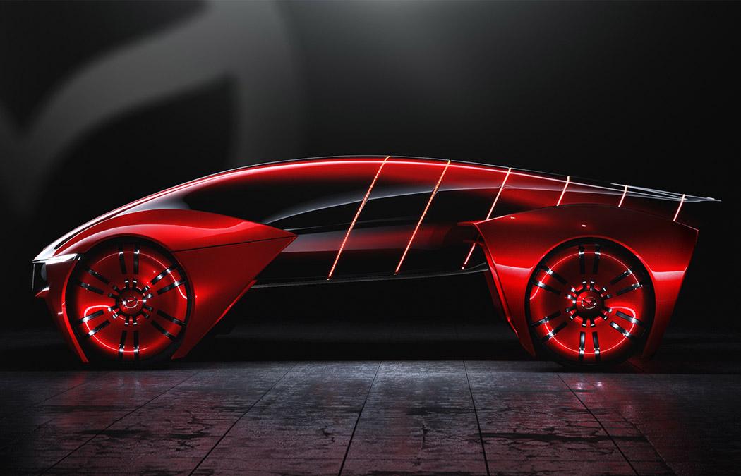 蜥蜴造型的概念车设计