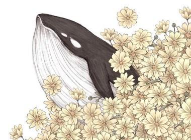 花朵团簇插画欣赏