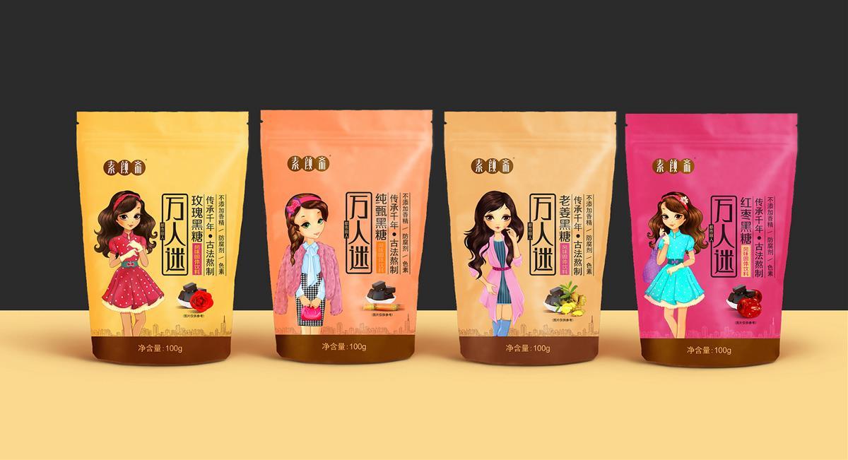 黑糖包装--都市女性