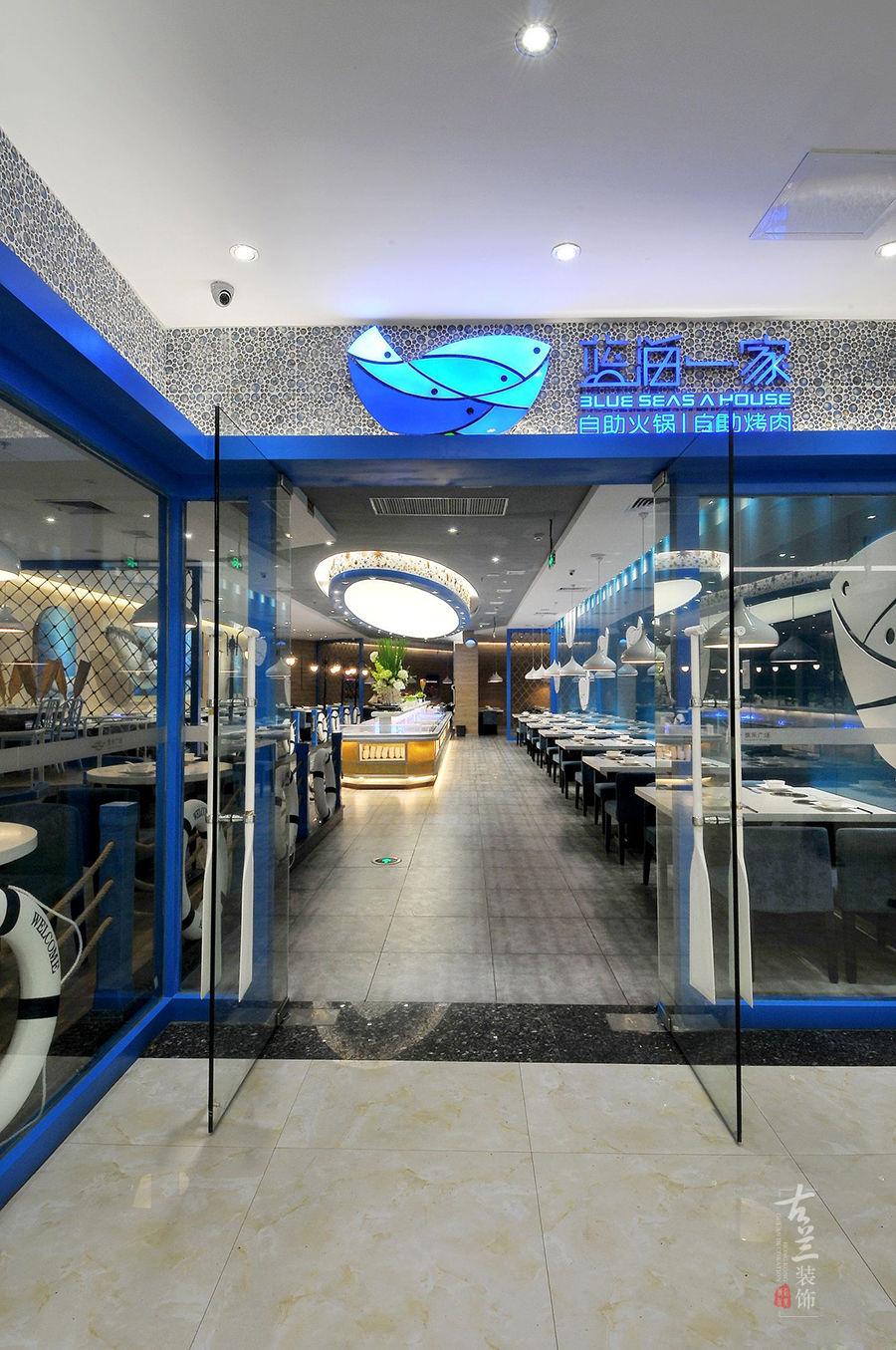 蓝海一家自助餐厅-成都专业特色餐厅装修设计公司