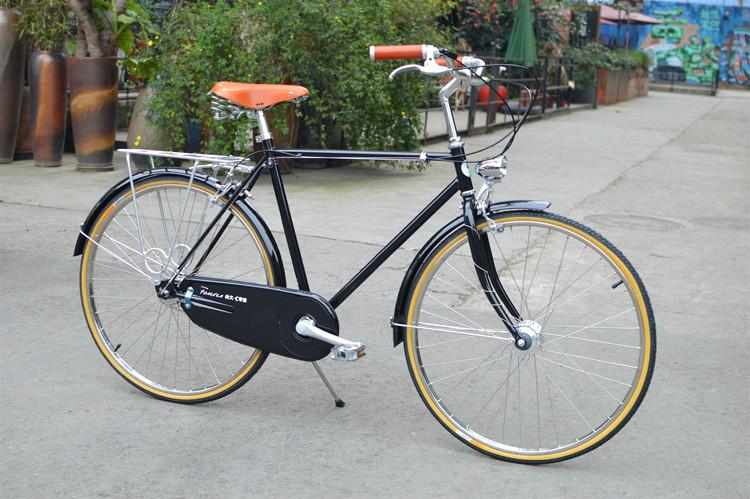 永久c内三速复古自行车