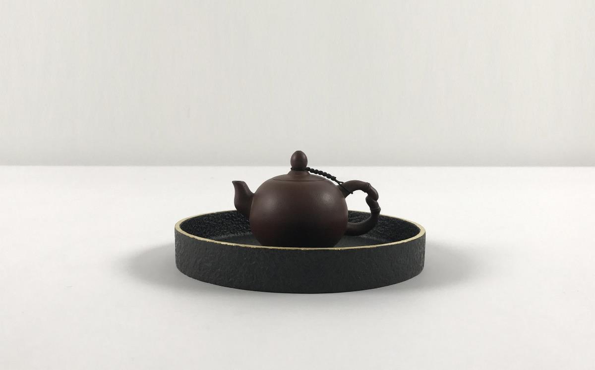 上相【金边·容】玄青石 茶器-容器